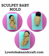 Sculpey baby mold, Sculpey baby, OOAK baby, OOAK Sculpey, fimo fairy, polymer doll, sculpey fairy, Sculpey baby, free worldwide shipping (1)